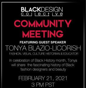Black Design Collective Community Meeting.